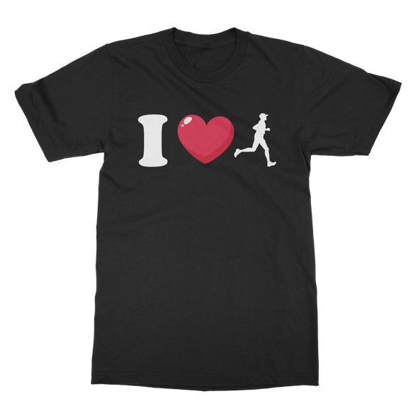 I Love Running Male Runner Classic Adult T-Shirt