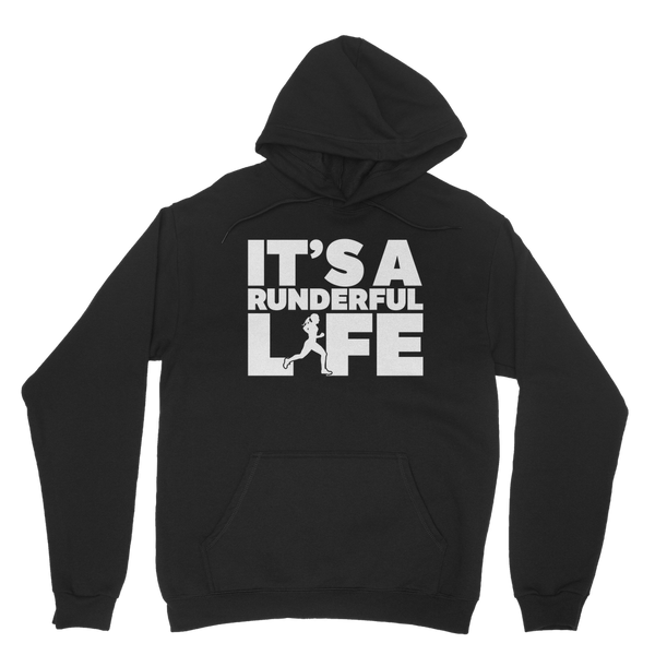 It's A Runderful Life Female Runner Classic Adult Hoodie
