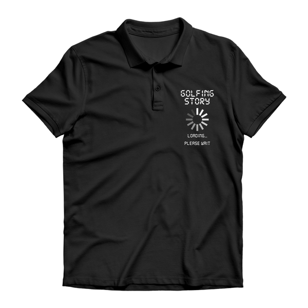 Golf Story Loading... Please Wait Premium Adult Polo Shirt