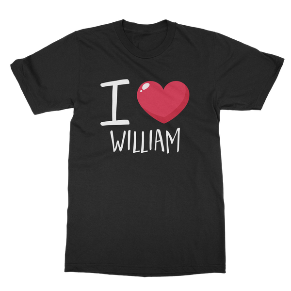 Love William (DB00038) Classic Adult T-Shirt