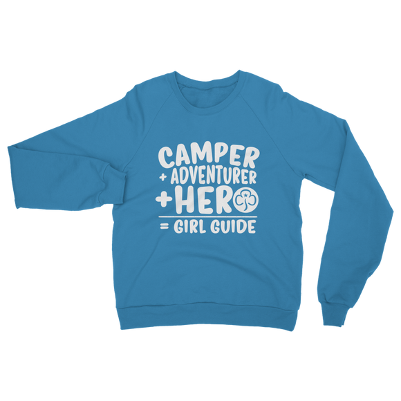 Camper + Adventurer + Hero = Girl Guide Classic Adult Sweatshirt