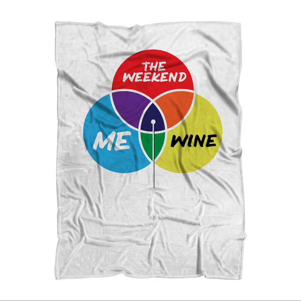 Wine is My Happy Place Sublimation Adult Blanket
