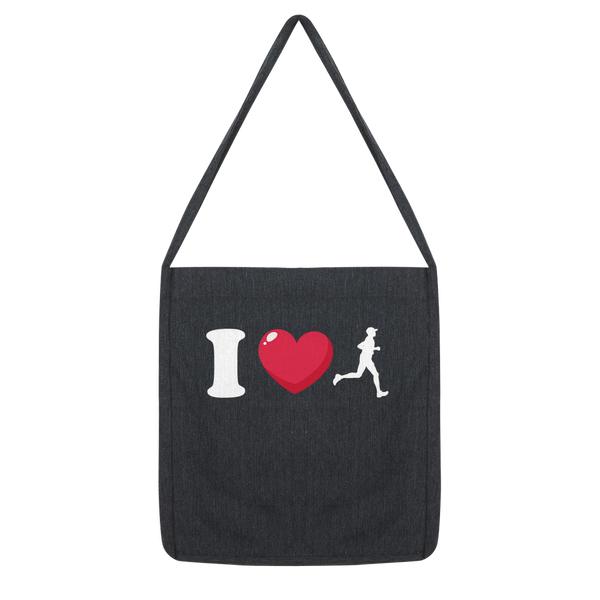 I Love Running Male Runner Classic Tote Bag