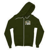 Can Someone Get This Farmer a Beer! Classic Adult Zip Hoodie
