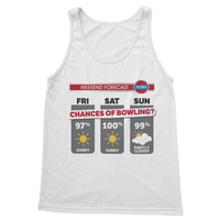 Weekend Weather Sunny With a Chance of Bowling? Classic Adult Tank Top