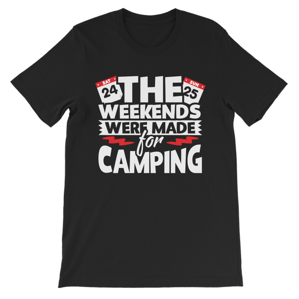 The Weekends Were Made For Camping Premium Kids T-Shirt