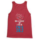 On A Scale Of 1 To 10 Marathon Runner Classic Adult Tank Top