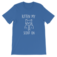 Kitten My Scout On Classic Kids T-Shirt