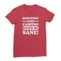 Scouting And Camping Keeps Me Sane Classic Women's T-Shirt