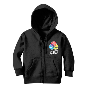 Books is My Happy Place Classic Kids Zip Hoodie