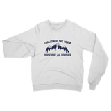 Challenge The Norm Blue Logo Classic Adult Sweatshirt