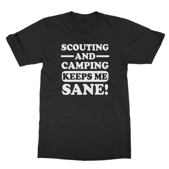 Scouting And Camping Keeps Me Sane Classic Adult T-Shirt