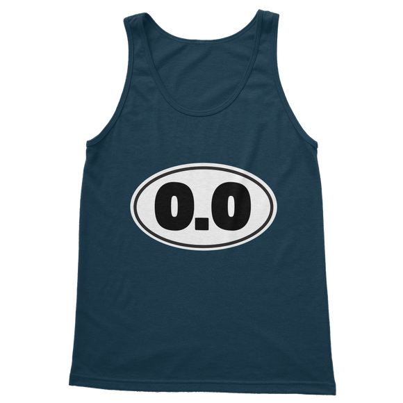 0.0 Funny Running Classic Adult Tank Top
