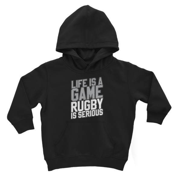 Life is a Game Rugby is Serious Classic Kids Hoodie