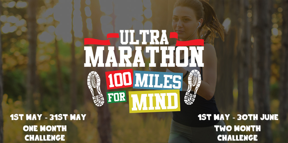 Virtual Run - 100 Mile Challenge #UltraRun4Mind