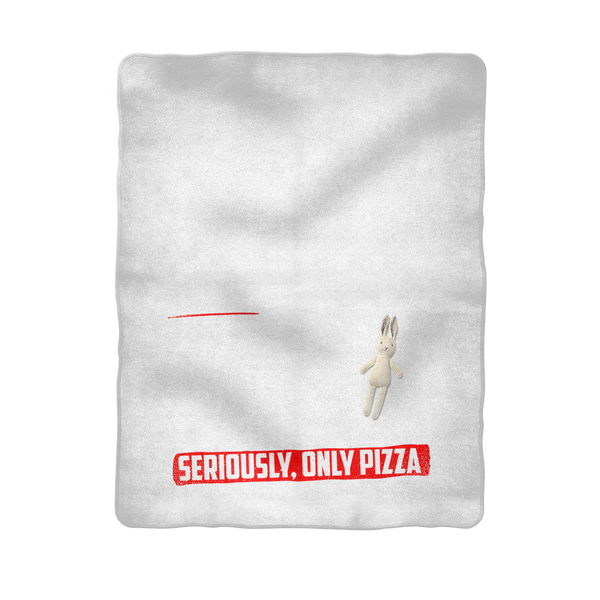 If I Look Busy Don't Disturb Me Unless You Plan To Take Me Pizza Seriously. Only Pizza Sublimation Baby Blanket
