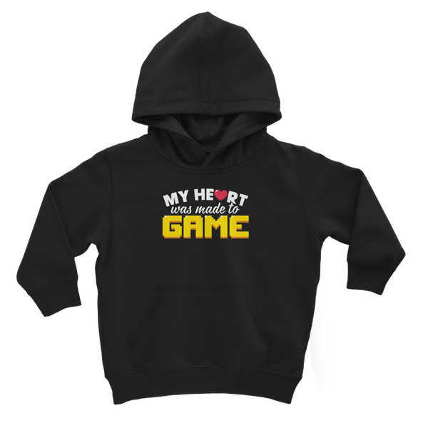 My Heart Was Made To Game Classic Kids Hoodie