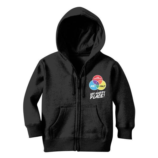 Golf is My Happy Place Classic Kids Zip Hoodie