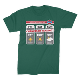 Weekend Weather Sunny With a Chance of Reading? Premium Jersey Men's T-Shirt
