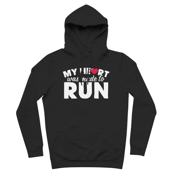 My Heart Was Made To Run Premium Adult Hoodie