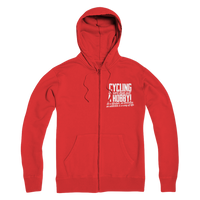 Cycling is More Than Just a Hobby Premium Adult Zip Hoodie