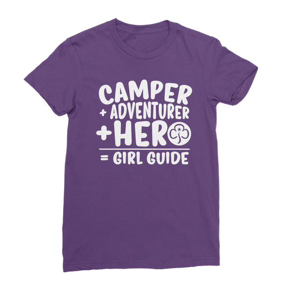Camper + Adventurer + Hero = Girl Guide Classic Women's T-Shirt