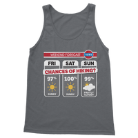 Weekend Weather Sunny With a Chance of Hiking? Classic Adult Tank Top