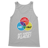Golf is My Happy Place Classic Women's Tank Top