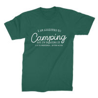 I Am Addicted To Camping But I'm Treating it I Go To Meetings... In The Woods Premium Jersey Men's T-Shirt