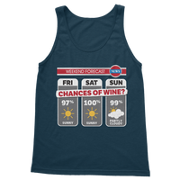 Weekend Weather Sunny With a Chance of Wine? Classic Women's Tank Top
