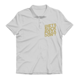 Diets Suck Pizza Don't Premium Adult Polo Shirt