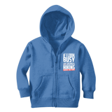 If I Look Busy Don't Disturb Me Unless You Plan To Take Me Hiking Seriously. Only Hiking Classic Kids Zip Hoodie