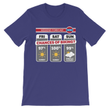 Weekend Weather Sunny With a Chance of Biking? Premium Kids T-Shirt