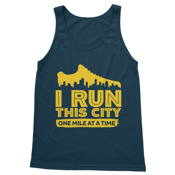 I Run This City One Mile At A Time Classic Women's Tank Top