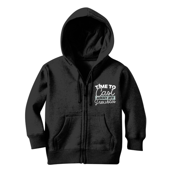 Time To Cast Away My Troubles Classic Kids Zip Hoodie