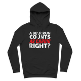 A Beer Run Counts As Cardio Right? Premium Adult Hoodie