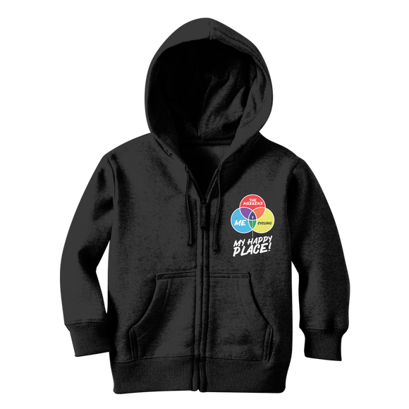 Cycling is My Happy Place Classic Kids Zip Hoodie