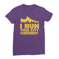 I Run This City One Mile At A Time Classic Women's T-Shirt