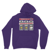 Weekend Weather Sunny With a Chance of Biking? Classic Adult Hoodie