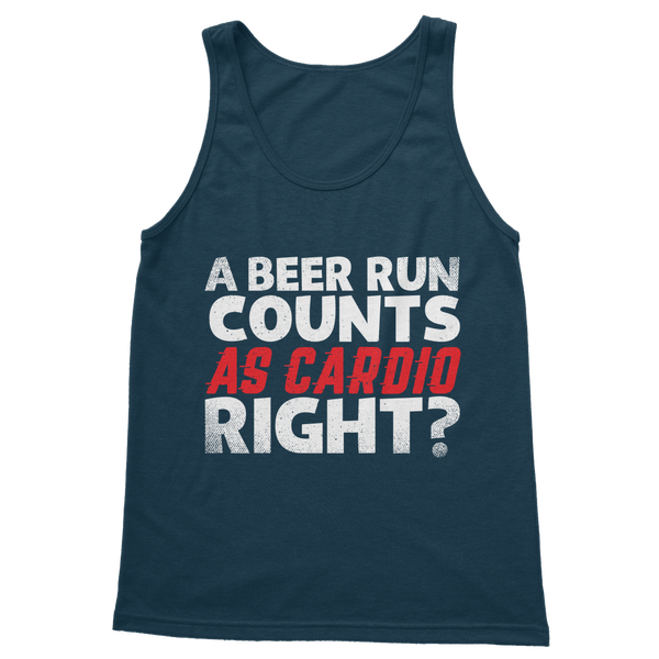 A Beer Run Counts As Cardio Right? Classic Adult Tank Top