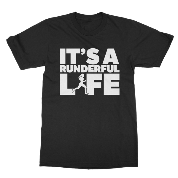 It's A Runderful Life Female Runner Classic Adult T-Shirt