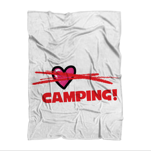 All You Need is Love No Camping! Sublimation Adult Blanket