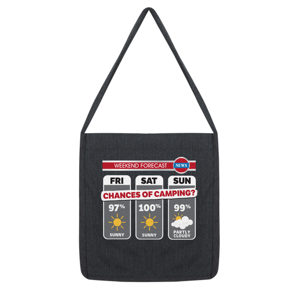 Weekend Weather Sunny With a Chance of Camping? Classic Tote Bag