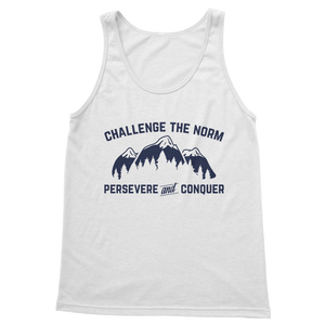 Challenge The Norm Blue Logo Classic Adult Tank Top