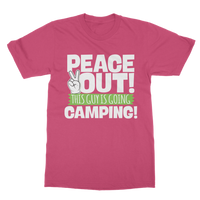 Peace Out This Guy is Going Camping! Classic Adult T-Shirt