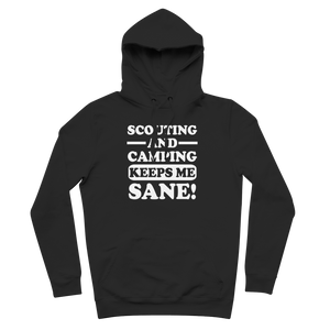 Scouting And Camping Keeps Me Sane Premium Adult Hoodie