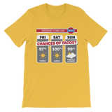 Weekend Weather Sunny With a Chance of Tacos? Premium Kids T-Shirt