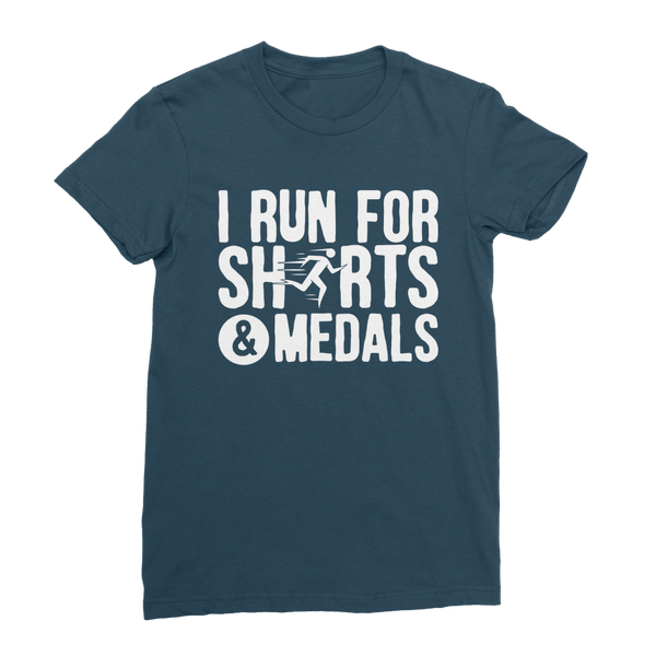 I Run For Shirts And Medals Classic Women's T-Shirt