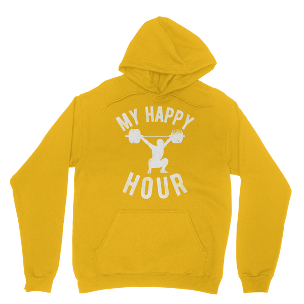 My Happy Hour Weightlifting Classic Adult Hoodie