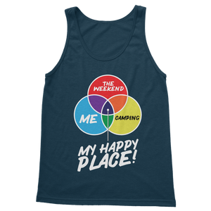 Camping is My Happy Place Classic Adult Tank Top